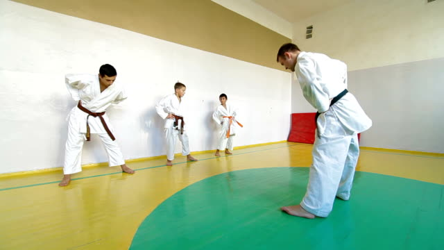 Martial arts instructor training  students video