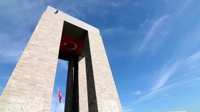 Martyrs memorial for Turkish independence war in Gallipoli