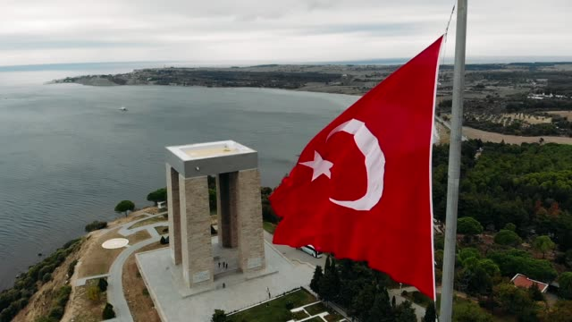 Martyrs' Memorial. The Çanakkale Martyrs' Memorial is a war memorial commemorating the service of about 253,000 Turkish soldiers who participated at the Battle of Gallipoli. turkey stock videos & royalty-free footage