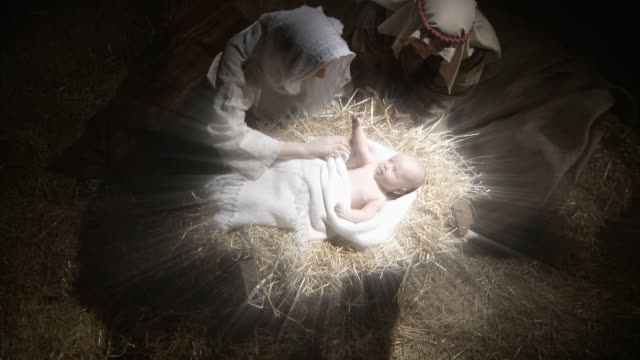 mary and joseph with baby jesus - god stock videos & royalty-free footage