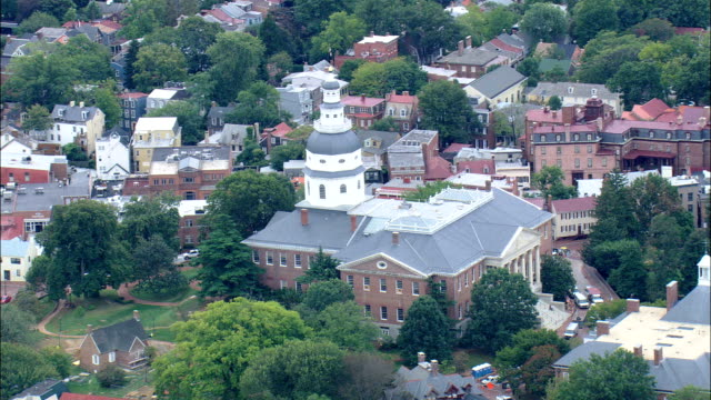 Maryland State House  - Aerial View - Maryland, Anne Arundel County, United States video