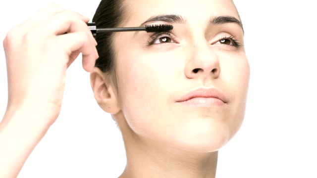 mascara female applying mascara mascara stock videos & royalty-free footage