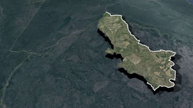 mashonaland east province - animation map - insygnia filmów i materiałów b-roll