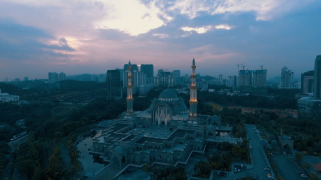 masjid wilayah persekutuan. - politica e governo video stock e b–roll