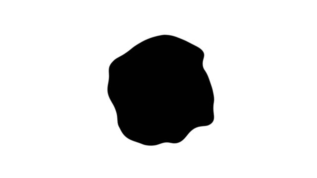 Mask element with abstract black ink stain for slideshow Mask element with abstract black ink stain, black and white footage for slideshow blob stock videos & royalty-free footage