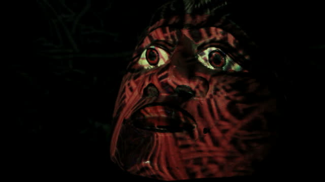 Mask Mask with special lights effects. VJ Material. Very tripping mask disguise stock videos & royalty-free footage