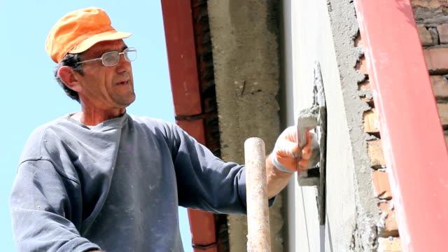 Mason Worker Plastering Wall video