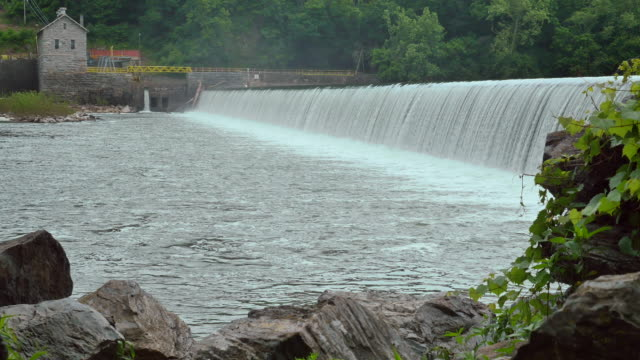 Masonry Dam Water Power Station Wide Water 4K