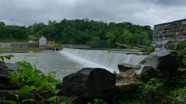 Masonry Dam Water Power Station Wider 4k