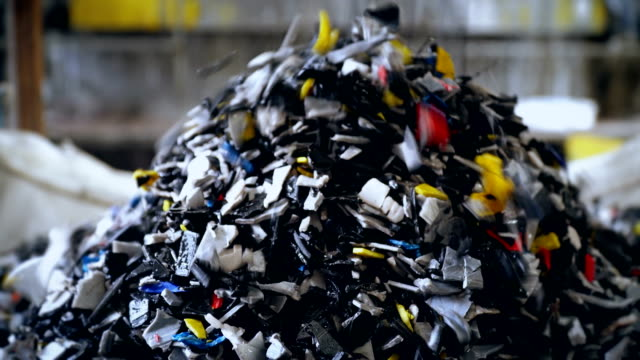 Mass of Recycled Plastic Mass of Recycled Plastic consumerism stock videos & royalty-free footage