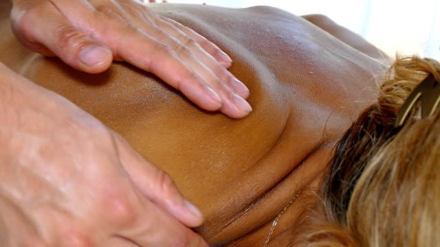 massage and body care, slow motion - china drug video stock e b–roll
