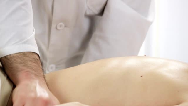Massage hands massage the lower spine video
