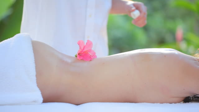 massage with flower part I video