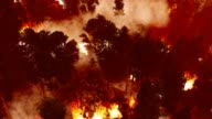 istock Massive forest fire in mountains 1197646058