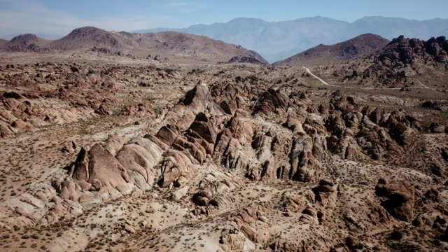 Massive Rock Hills in Rough California Desert video
