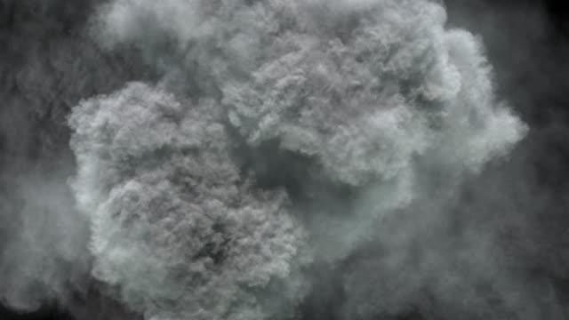 massive rauch-/dampfausbrüche aus der obersicht. - vulkan stock-videos und b-roll-filmmaterial