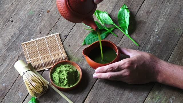 matcha tea - superfoods stock videos and b-roll footage