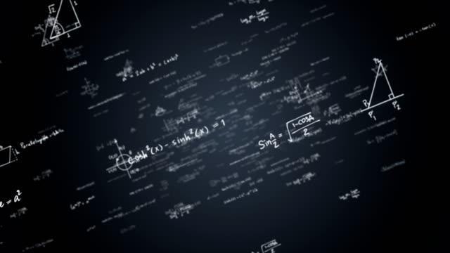 matematik formülleri ile loopable arka plan - physics stock videos and b-roll footage