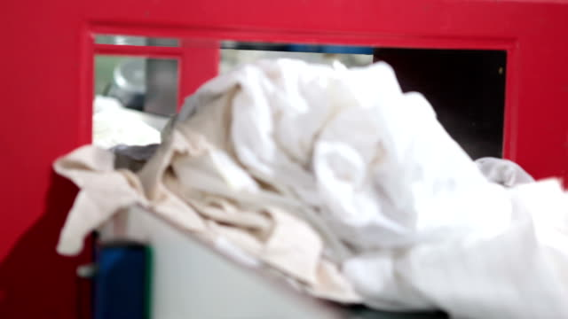 Materials and clothes recycling plant video