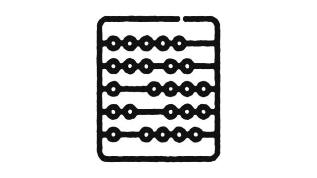 matematikutbildning ikon animation footage & alfakanal - abakus bildbanksvideor och videomaterial från bakom kulisserna