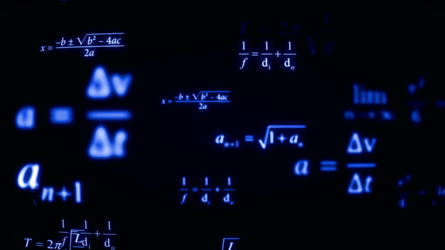 Math Formulas Background (Loopable) Math Symbols mathematics stock videos & royalty-free footage