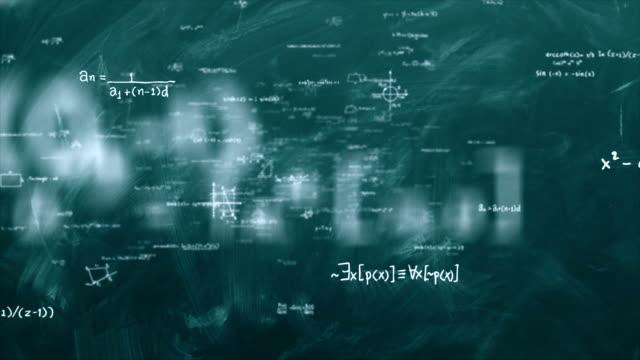 matematik formülleri schleife - emblem stock-videos und b-roll-filmmaterial