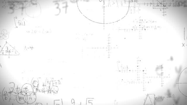 math formulas on whiteboard - lavagna bianca video stock e b–roll