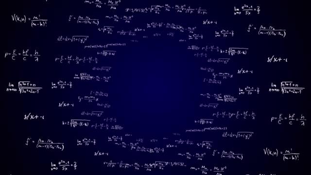 수학 수식 코드 번호, 애니메이션, 렌더링, 배경, 루프 - formula 1 스톡 비디오 및 b-롤 화면