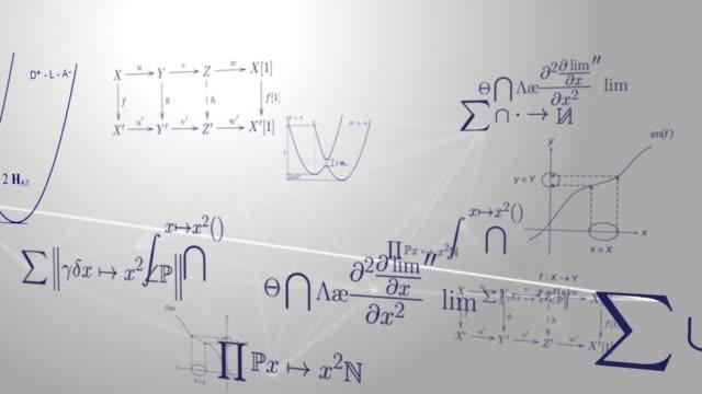 mathematical and scientific equations and formulas - fysik bildbanksvideor och videomaterial från bakom kulisserna