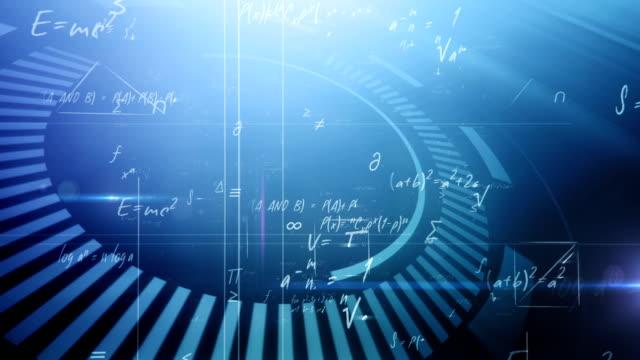 Mathematical formulas (blue) video