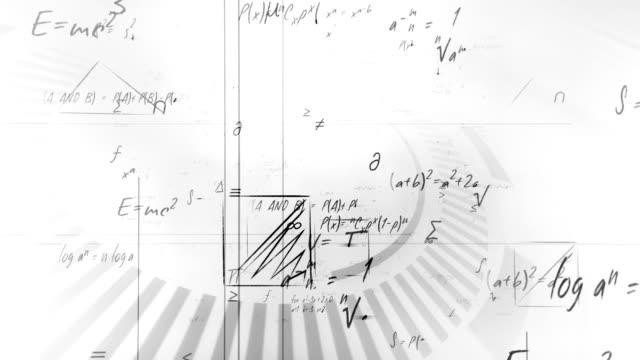 Mathematical formulas (white) video