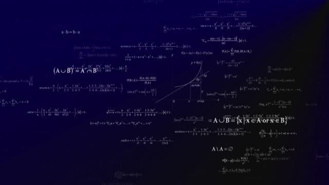 mathematische formelgleichung auf weiße kreide farbe mit schwarzem brett hintergrund hintergrund für inhalte über bildungstechnologie studie mit nahtlosen looping-bewegung. - kreide weiss stock-videos und b-roll-filmmaterial
