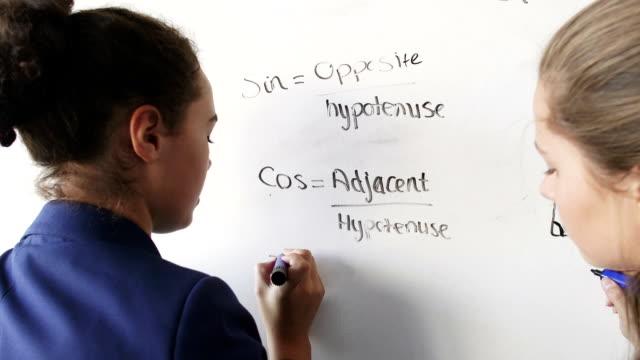 数学 - 数学の授業点の映像素材/bロール