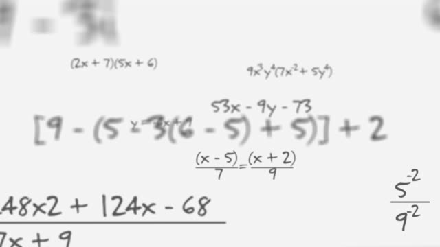 Maths Equation On White Background Maths Equation On White Background mathematics stock videos & royalty-free footage
