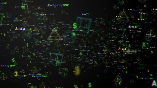 数学記号、4k 解像度の背景 - 空白点の映像素材/bロール