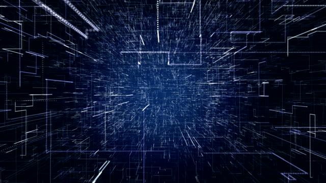matrix. darstellung der daten. big-data. 3d-rendering - cool und lässig stock-videos und b-roll-filmmaterial
