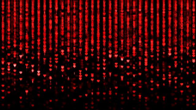 vidéos et rushes de matrice. coeur fond - image composite numérique