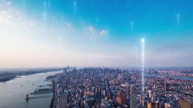 matrix über smart city - smart city stock-videos und b-roll-filmmaterial