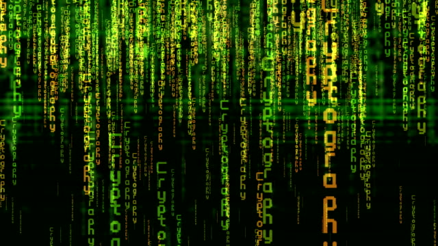 Matrix Style Title, Cryptography