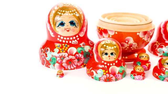 Matryoshka dolls toy video