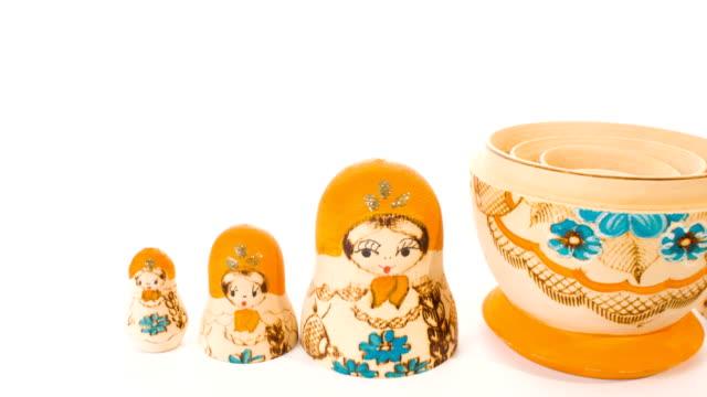 Matryoshka souvenir dolls video