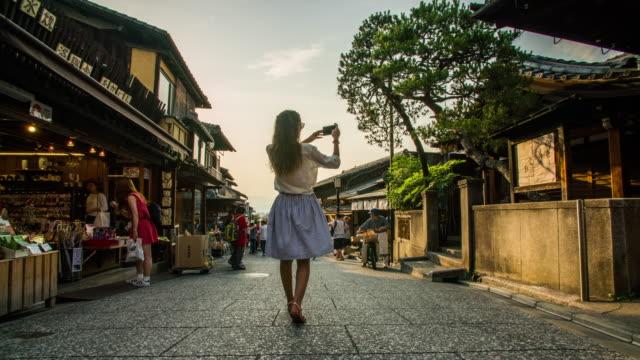 在京都 4 k 松原通 hyperlapse - 旅遊業 個影片檔及 b 捲影像