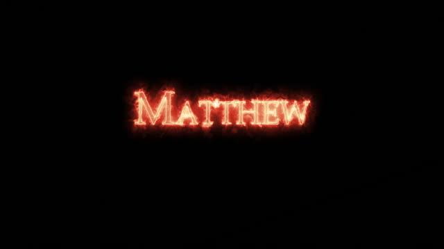 matthew skrev med eld. loop - påve bildbanksvideor och videomaterial från bakom kulisserna