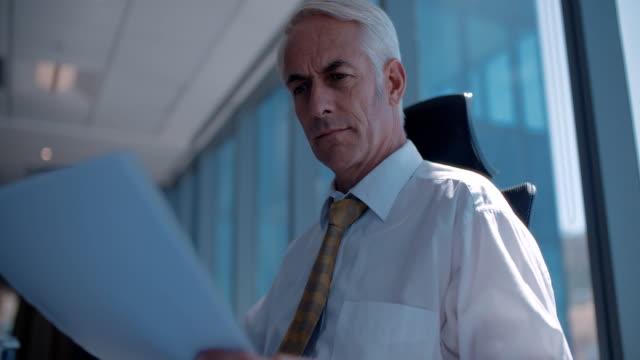 Mature businessman at work video