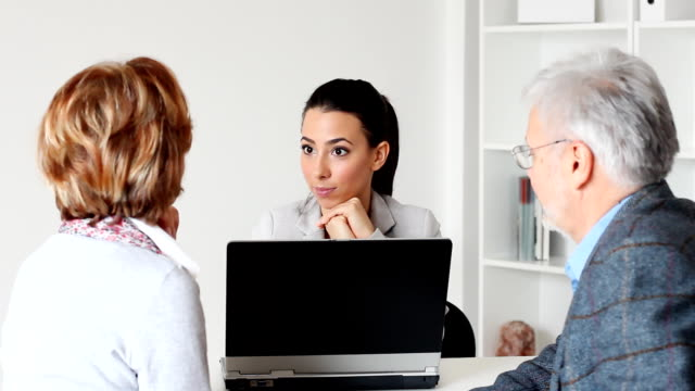 Mature Couple Meeting With Financial Advisor video