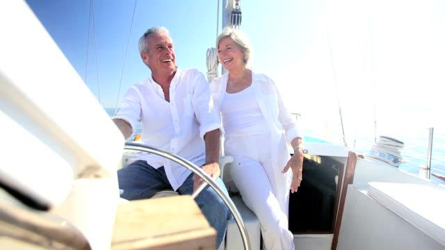 Mature Couple on Luxury Yacht video