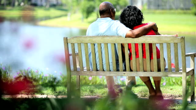 Mature ethnic couple enjoying quiet time video