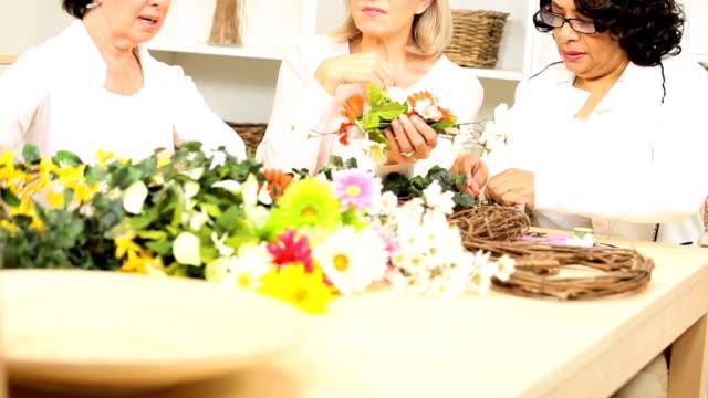 Mature Ladies Hobby Flower Arranging video