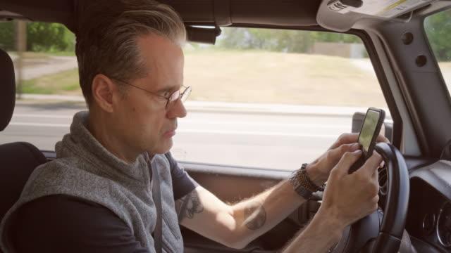 Mature Man Driving a Truck - video