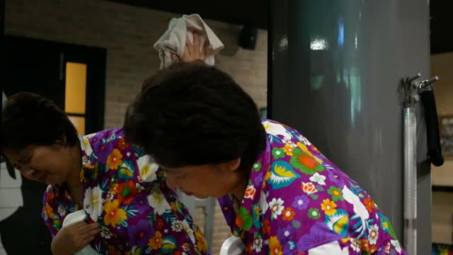Mature woman Heart Failure while working housework video
